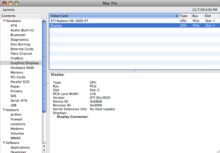 Mac OS X with 2nd GPU